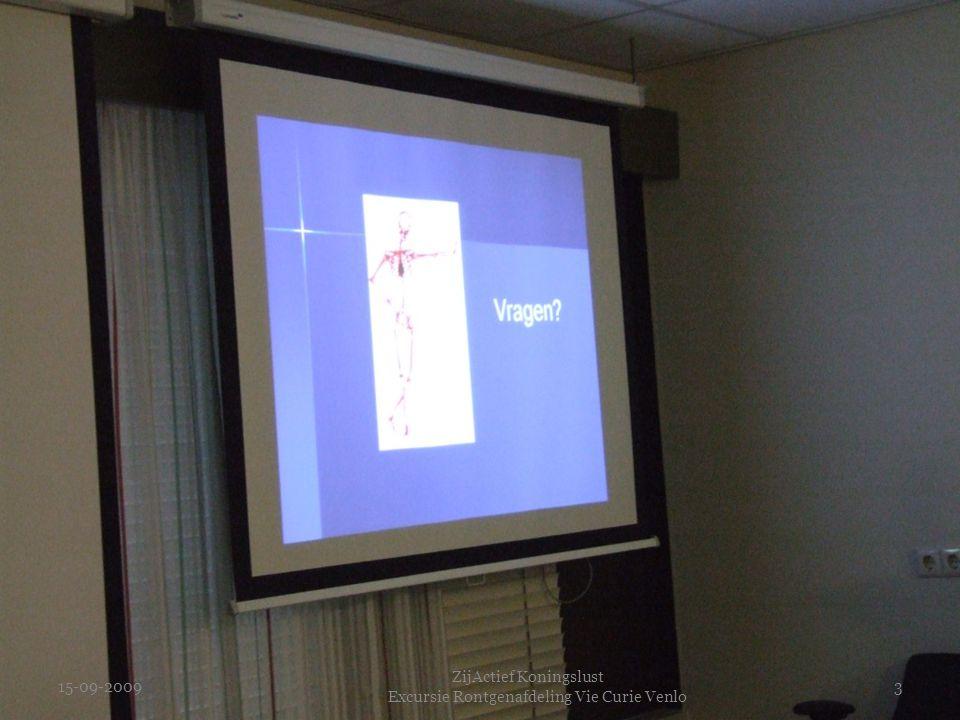 15-09-2009 ZijActief Koningslust Excursie Rontgenafdeling Vie Curie Venlo 3