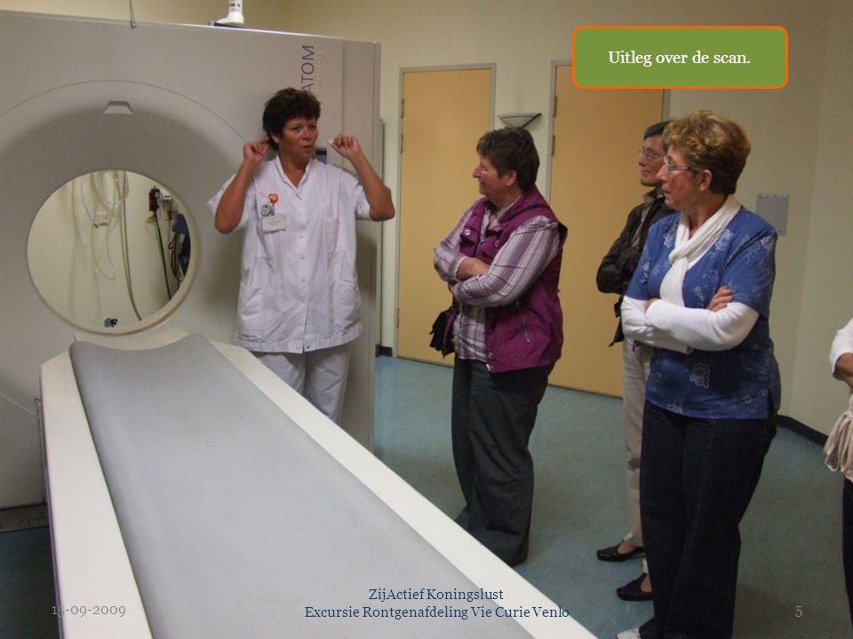 15-09-20095 ZijActief Koningslust Excursie Rontgenafdeling Vie Curie Venlo Uitleg over de scan.