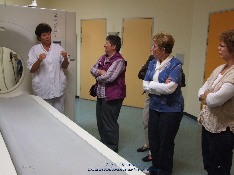 15-09-2009 ZijActief Koningslust Excursie Rontgenafdeling Vie Curie Venlo 6