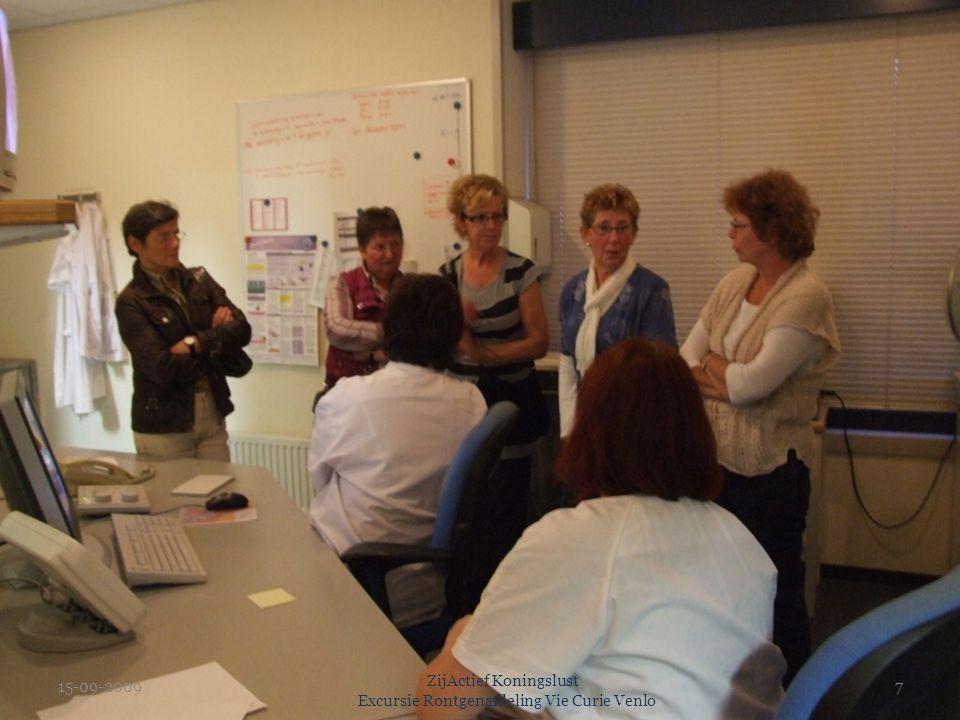 15-09-2009 ZijActief Koningslust Excursie Rontgenafdeling Vie Curie Venlo 7
