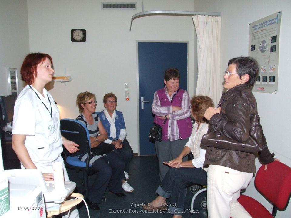 15-09-2009 ZijActief Koningslust Excursie Rontgenafdeling Vie Curie Venlo 9