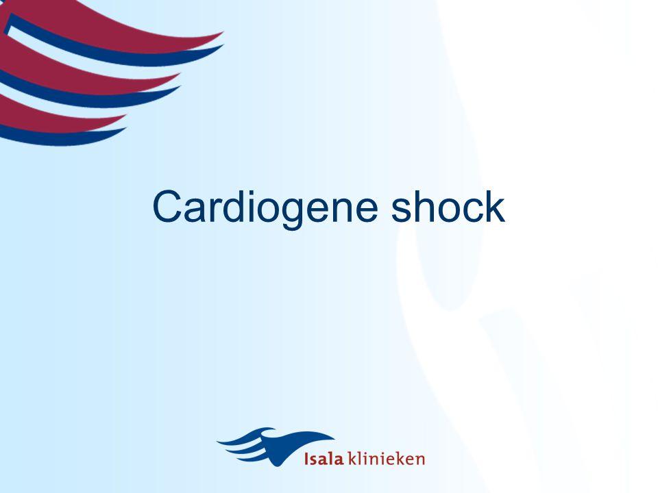 shock  Tekort aan circulerend volume  Pompfunctie hart verminderd cardiogeen