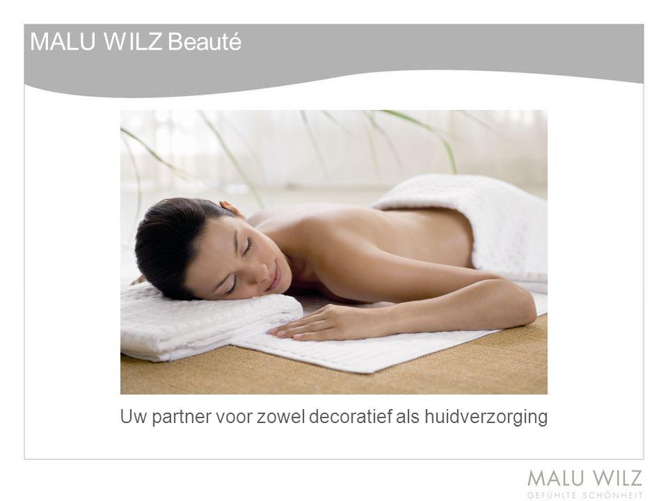 Uw partner voor zowel decoratief als huidverzorging MALU WILZ Beauté