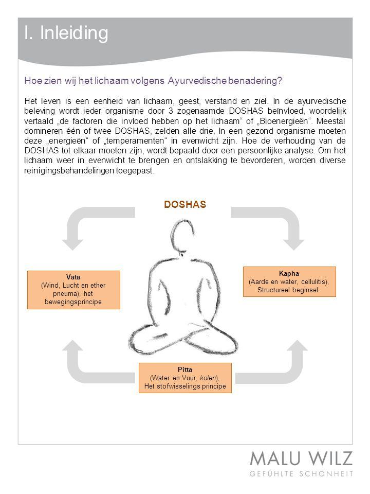 I.Inleiding SAMVAHANA Een lichaamsbehandeling werkend op de zintuigen.