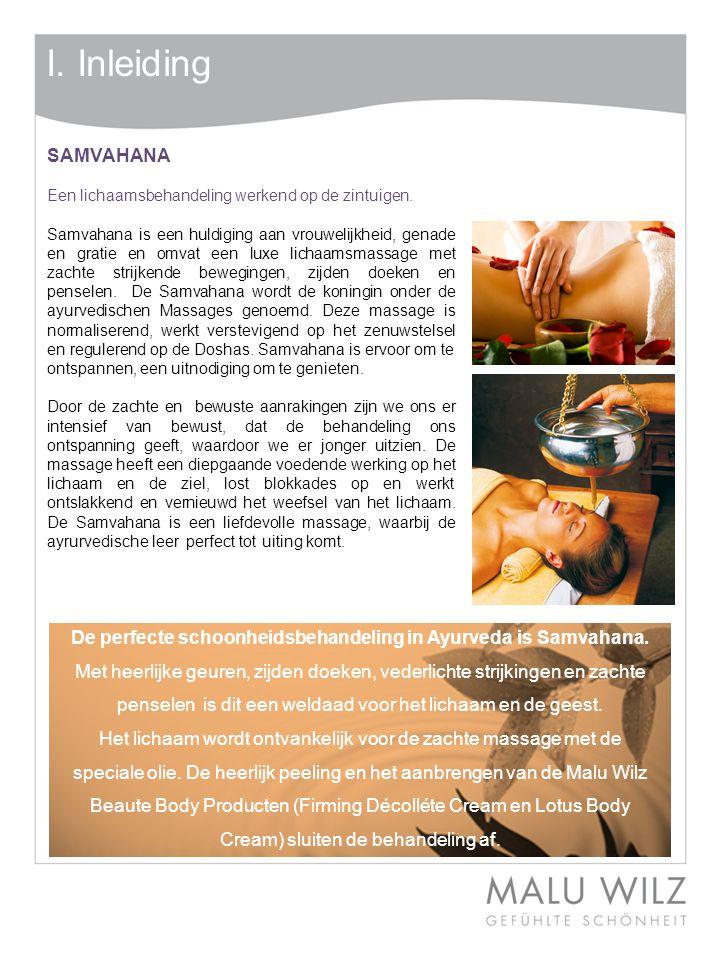 III.Massage SAMVAHANA Fase 4 – Inolieën van het lichaam aan de voorzijde.