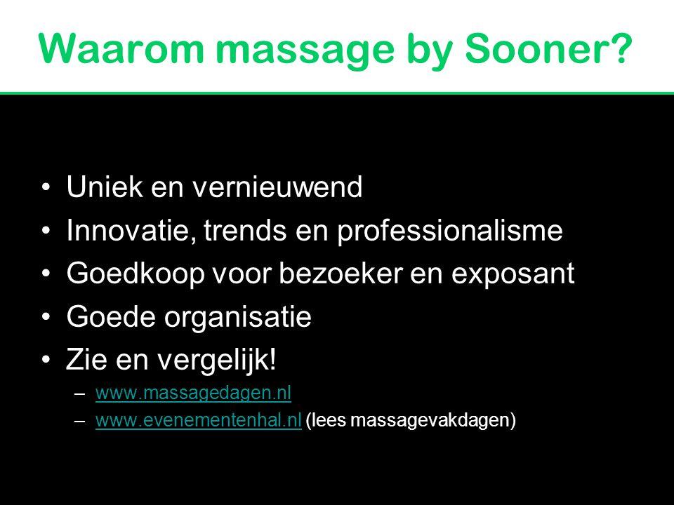 M assagevakbeurs 2011 Origineel & Vernieuwend Massage by Sooner Anouk Schwieters & Katja Werlich
