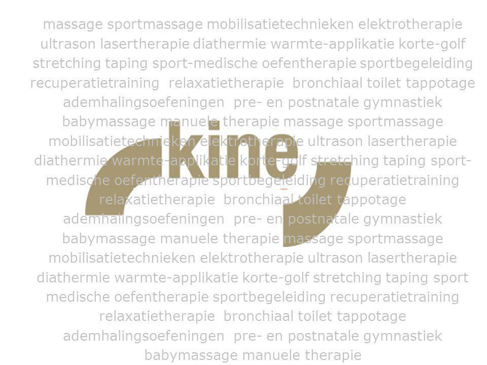Bijkomende info Bezoek ook eens onze website: www.kine-plus.be