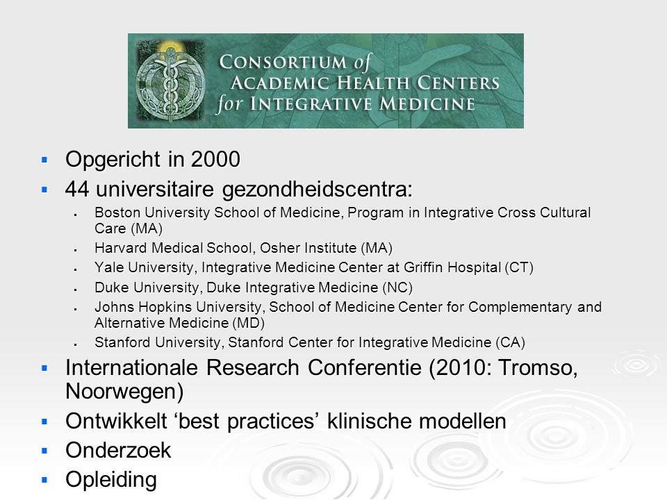 Toename aantal CAM Studies MEDLINE Citations Under Alternative Medicine 1966-2005