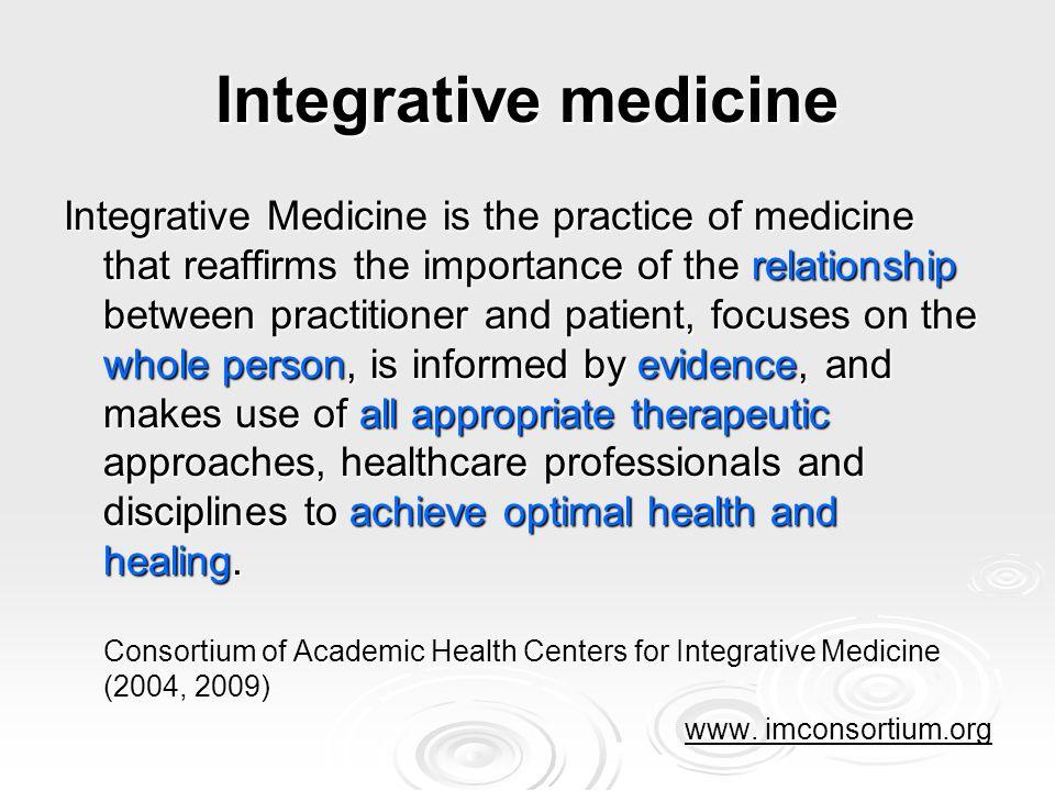 Alle geschikte therapeutische opties Keuze uit alle aangewezen reguliere (medische en gedragstherapeutische) én complementaire behandelwijzen die voldoende evidence based zijn