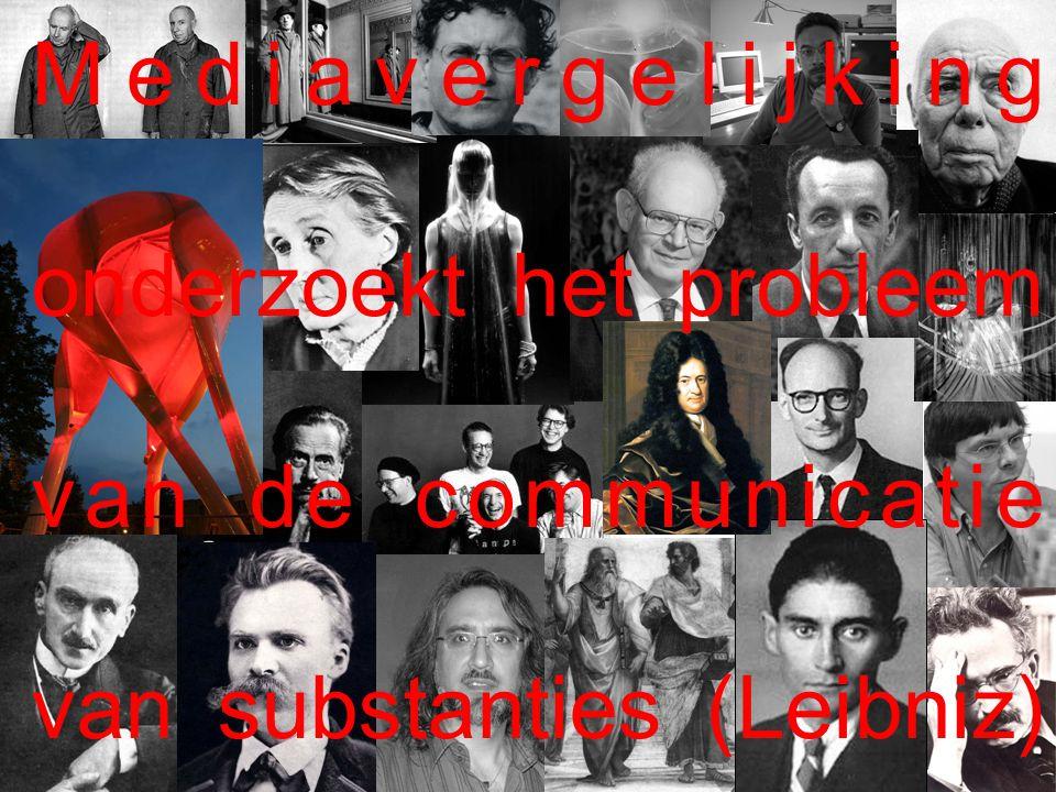 Mediavergelijking onderzoekt het probleem van de communicatie van substanties (Leibniz)