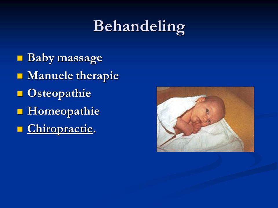 Behandeling Baby massage Baby massage Manuele therapie Manuele therapie Osteopathie Osteopathie Homeopathie Homeopathie Chiropractie.