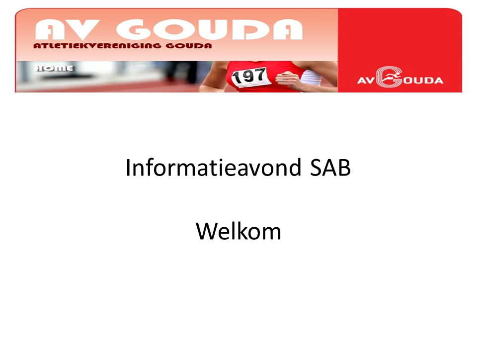 Informatieavond SAB Welkom