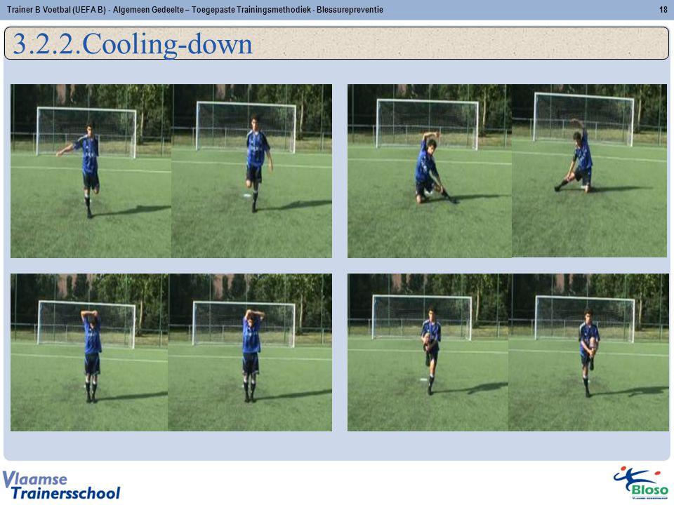 3.2.2.Cooling-down 18Trainer B Voetbal (UEFA B) - Algemeen Gedeelte – Toegepaste Trainingsmethodiek - Blessurepreventie