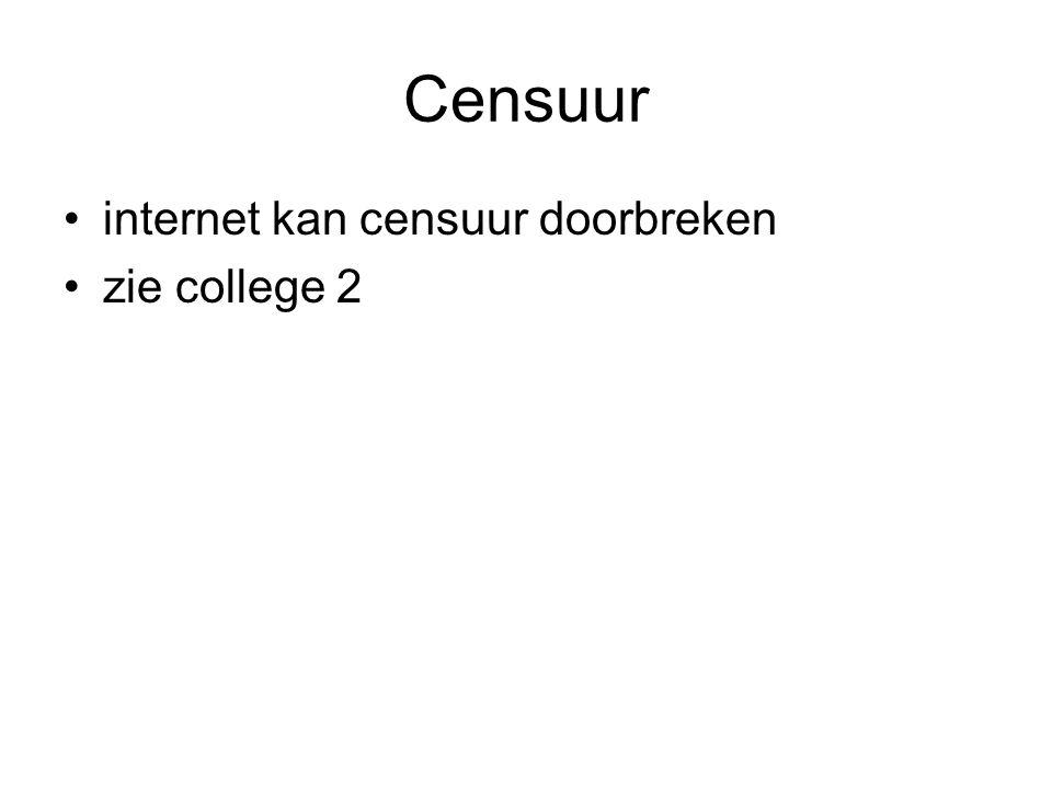 Censuur internet kan censuur doorbreken zie college 2