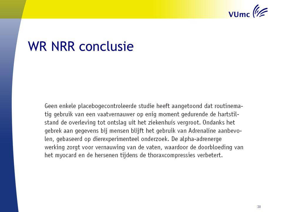WR NRR conclusie 30