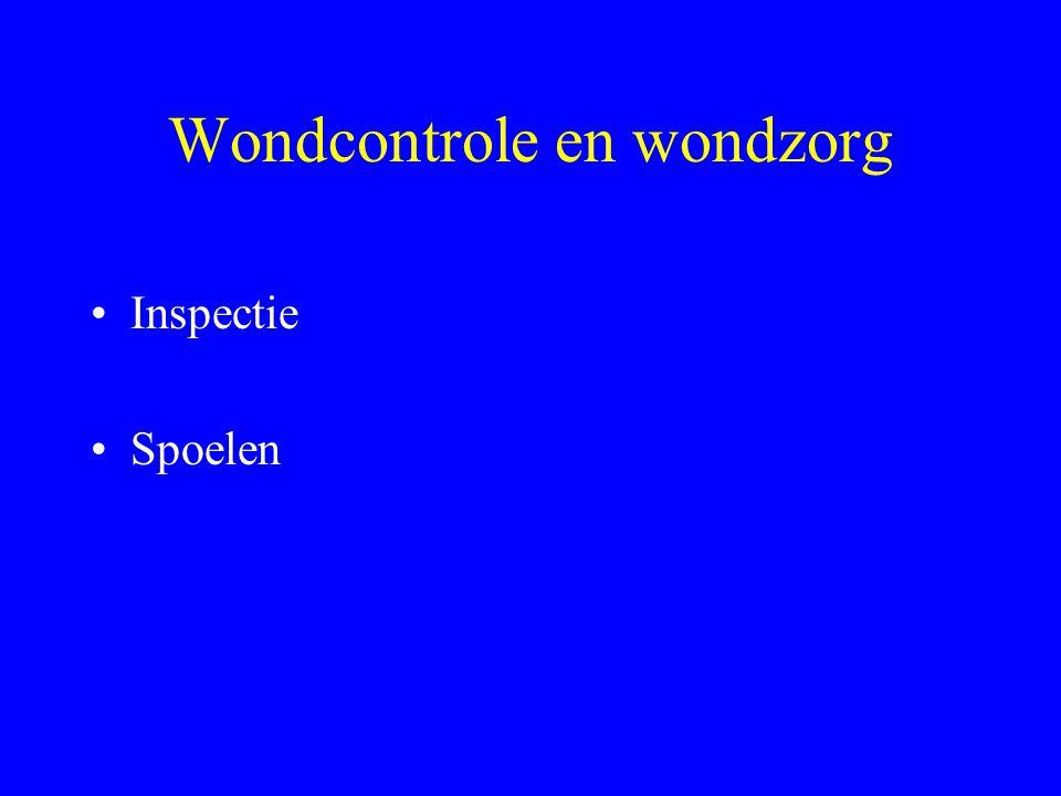 Wondcontrole en wondzorg Inspectie Spoelen