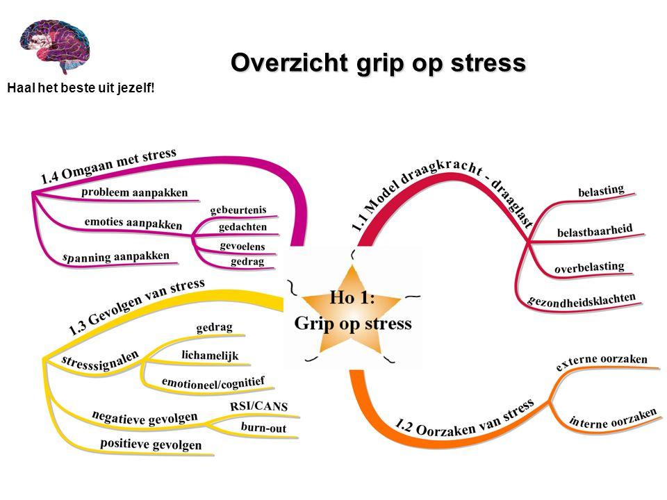 Haal het beste uit jezelf! Overzicht grip op stress