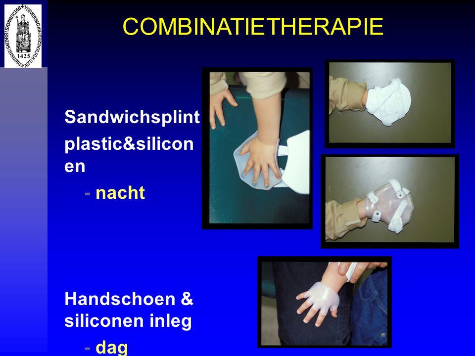 Sandwichsplint plastic&silicon en - nacht Handschoen & siliconen inleg - dag