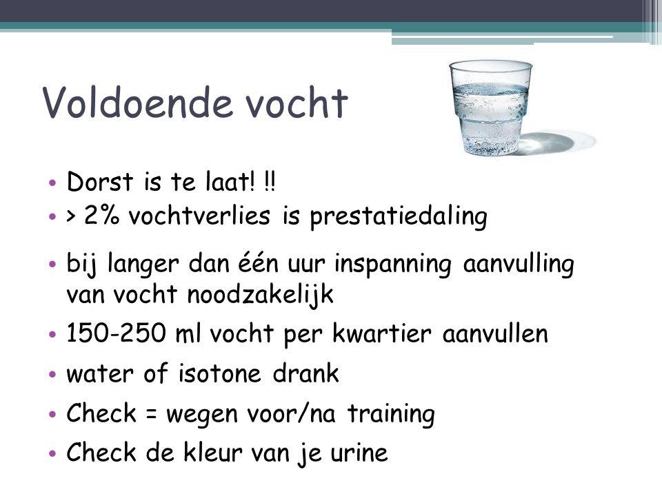 Sportdranken Hypotone sportdranken0 gram KH p/ 100 ml WATER of sportwaters Isotone sportdranken 6-8 gram KH p/100 ml Veelal Lemon - smaken Hypertone sportdranken 15 gram KH p/ 100 ml Veelal Orange-smaken