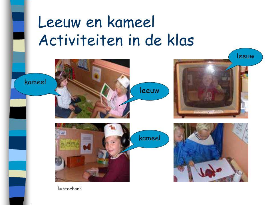 Leeuw en kameel Activiteiten in de klas leeuw kameel leeuw kameel luisterhoek