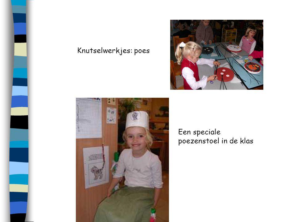 Knutselwerkjes: poes Een speciale poezenstoel in de klas