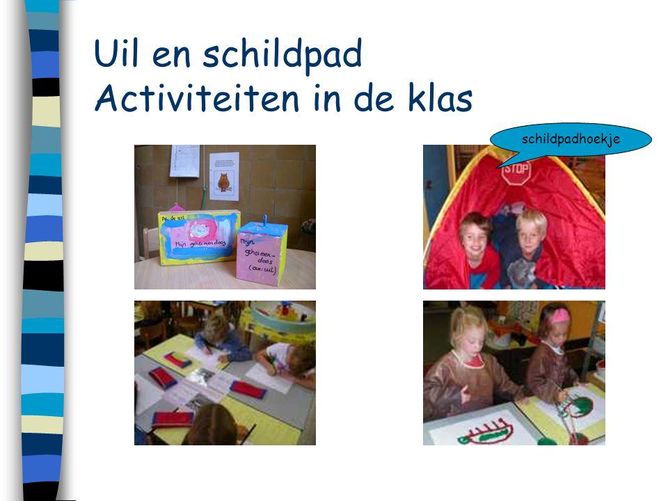 Uil en schildpad Activiteiten in de klas schildpadhoekje