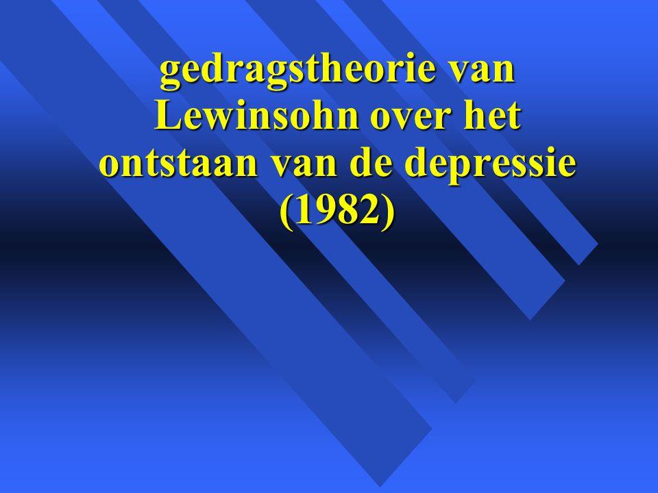 gedragstheorie van Lewinsohn over het ontstaan van de depressie (1982)
