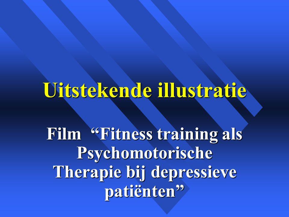 Uitstekende illustratie Film Fitness training als Psychomotorische Therapie bij depressieve patiënten