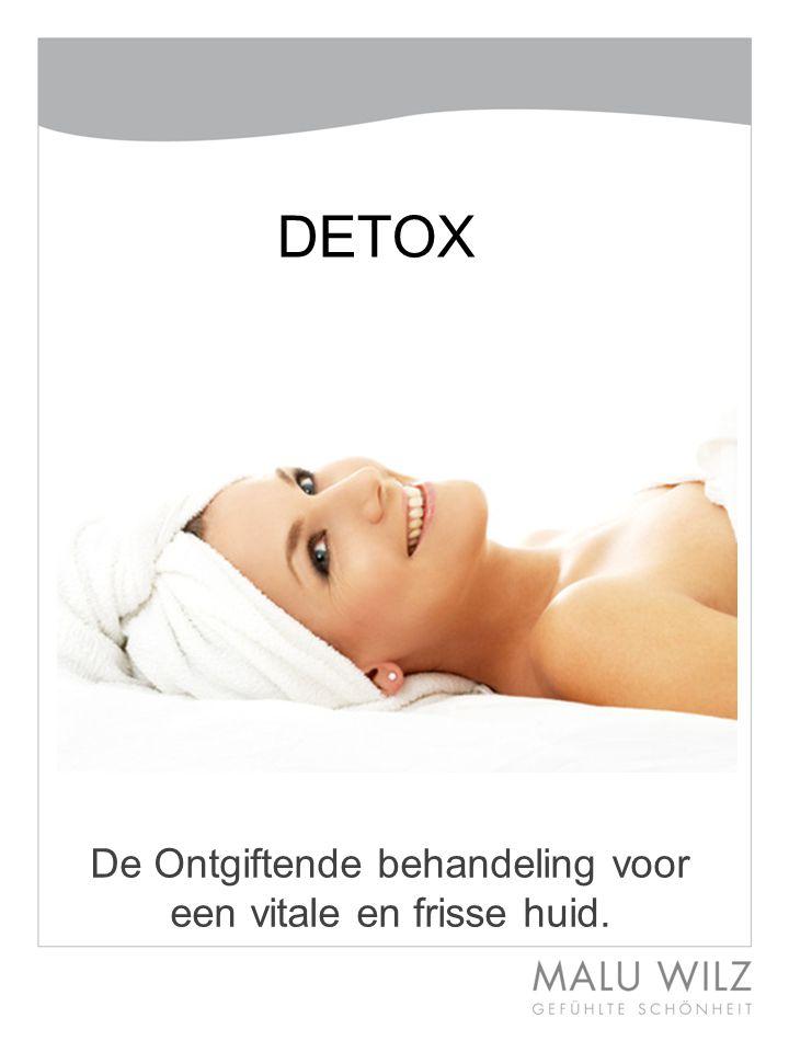De Ontgiftende behandeling voor een vitale en frisse huid. DETOX
