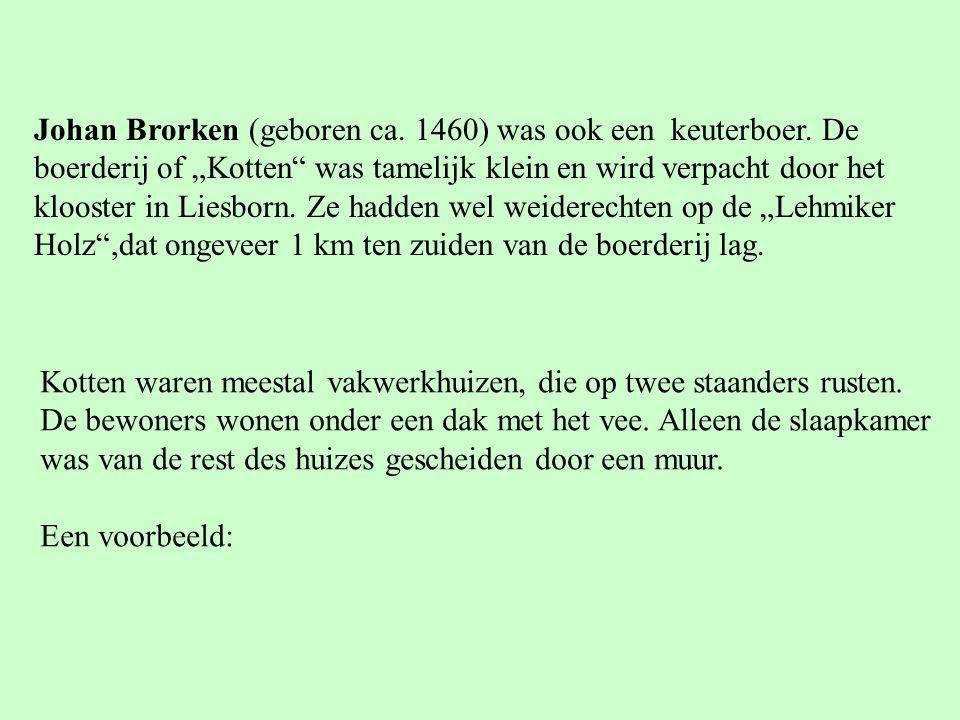 Johan Brorken (geboren ca.1460) was ook een keuterboer.