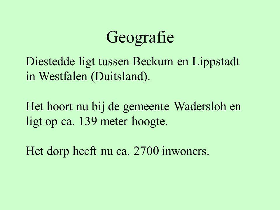 Geografie Diestedde ligt tussen Beckum en Lippstadt in Westfalen (Duitsland). Het hoort nu bij de gemeente Wadersloh en ligt op ca. 139 meter hoogte.