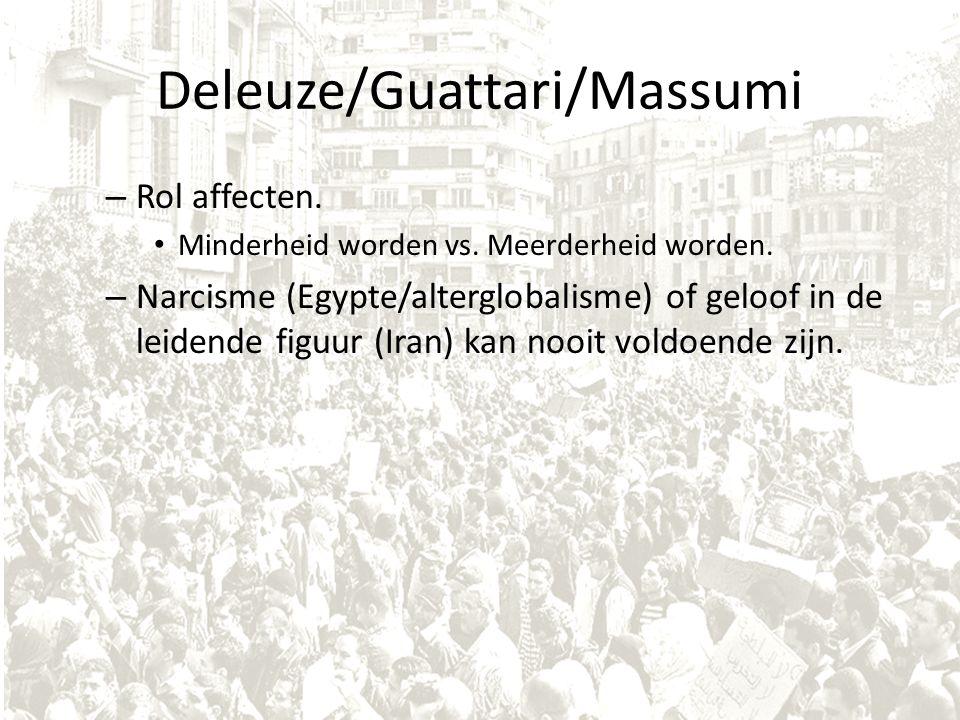 Deleuze/Guattari/Massumi – Rol affecten. Minderheid worden vs.