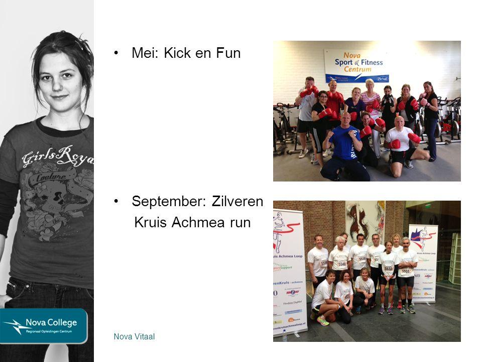 Mei: Kick en Fun September: Zilveren Kruis Achmea run 10 Nova Vitaal29 oktober 2013
