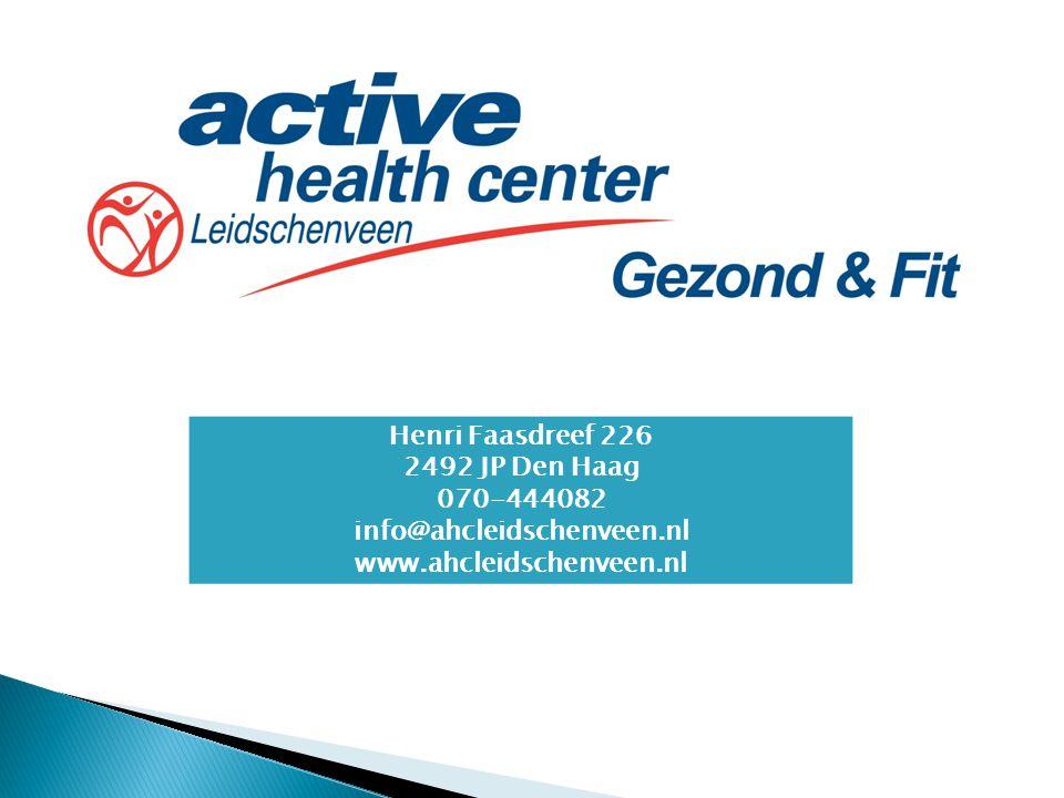 Henri Faasdreef 226 2492 JP Den Haag 070-444082 info@ahcleidschenveen.nl www.ahcleidschenveen.nl