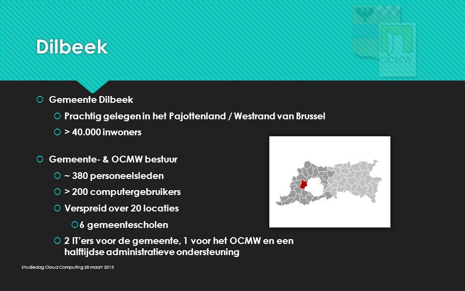Dilbeek  Gemeente Dilbeek  Prachtig gelegen in het Pajottenland / Westrand van Brussel  > 40.000 inwoners  Gemeente- & OCMW bestuur  ~ 380 person
