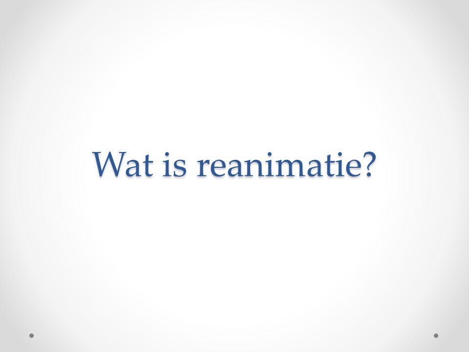 Wat is reanimatie?