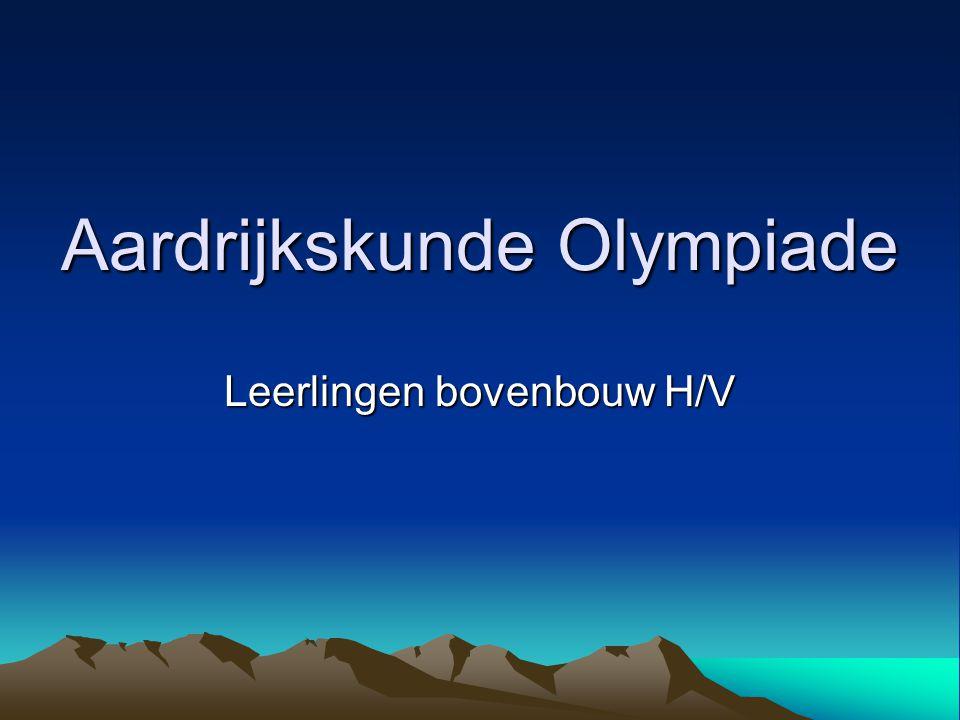 Aardrijkskunde Olympiade Leerlingen bovenbouw H/V