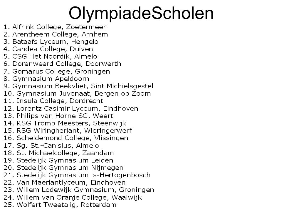 OlympiadeScholen