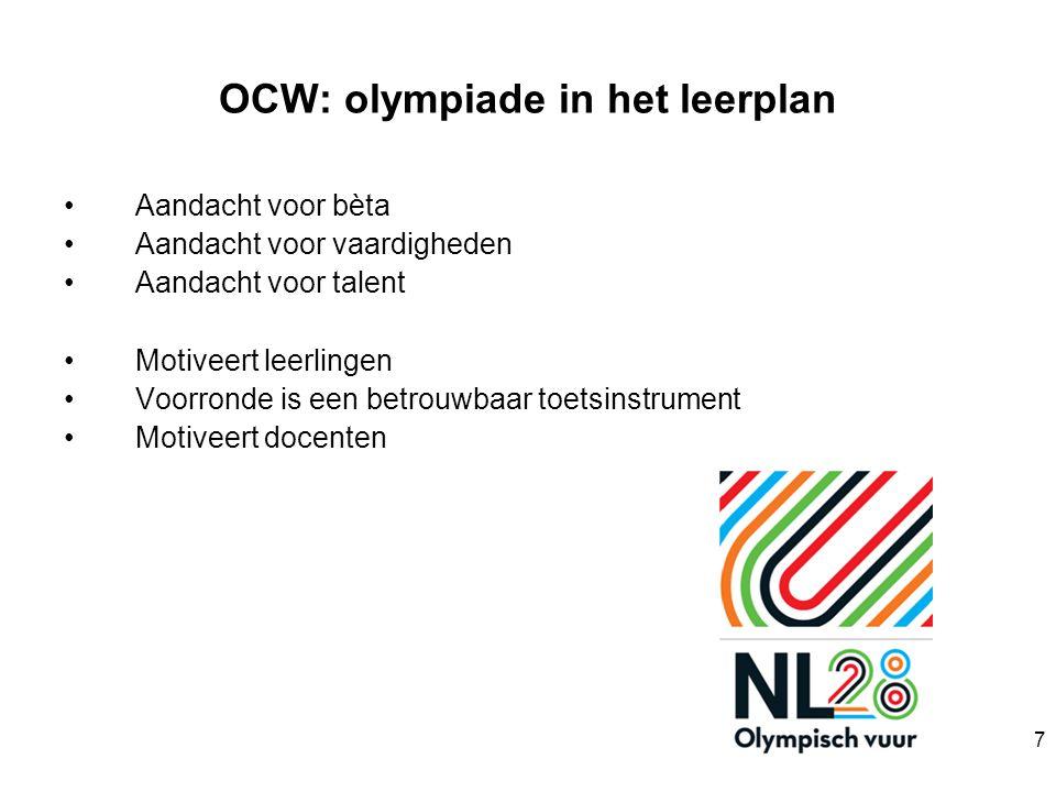 8 OlympiadeKeurmerk Wij bieden leerlingen op onze school de garantie dat zij mee kunnen doen aan een of meerdere olympiades.