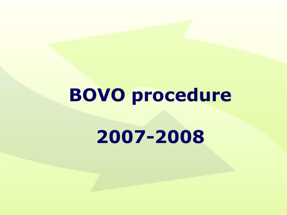 BOVO procedure 2007-2008