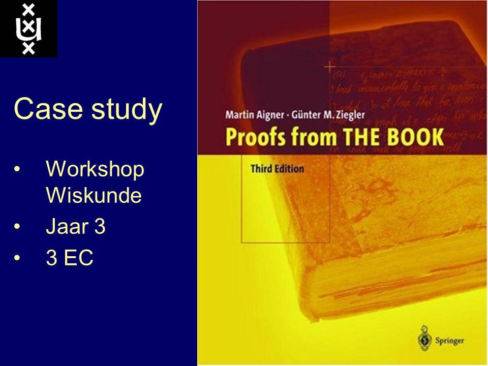 Case study Workshop Wiskunde Jaar 3 3 EC