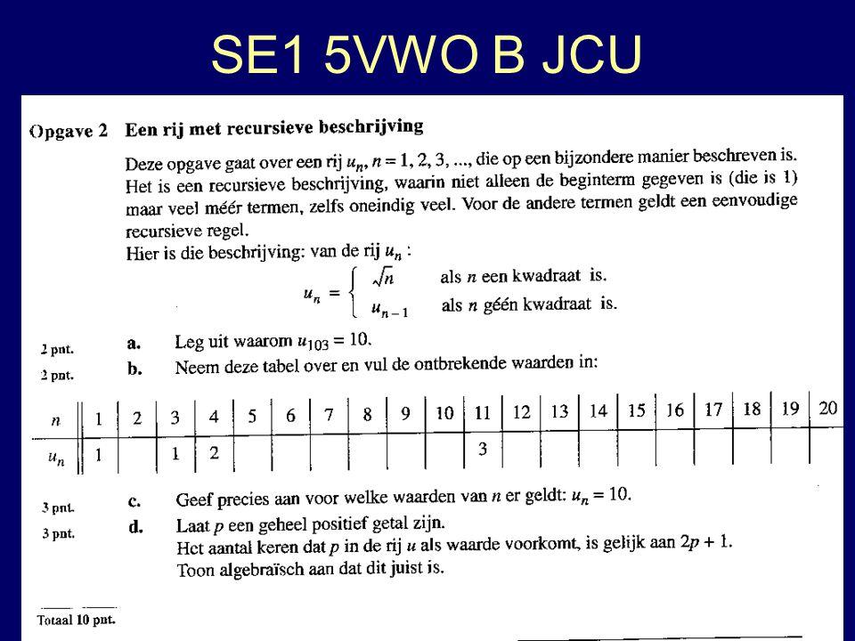 SE1 5VWO B JCU