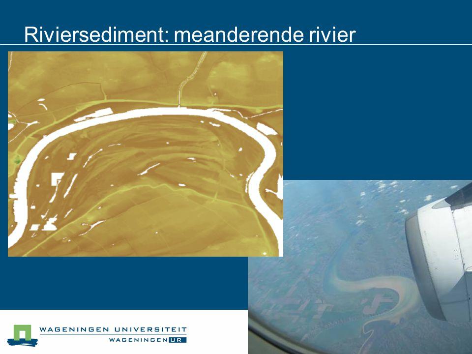 Riviersediment: meanderende rivier