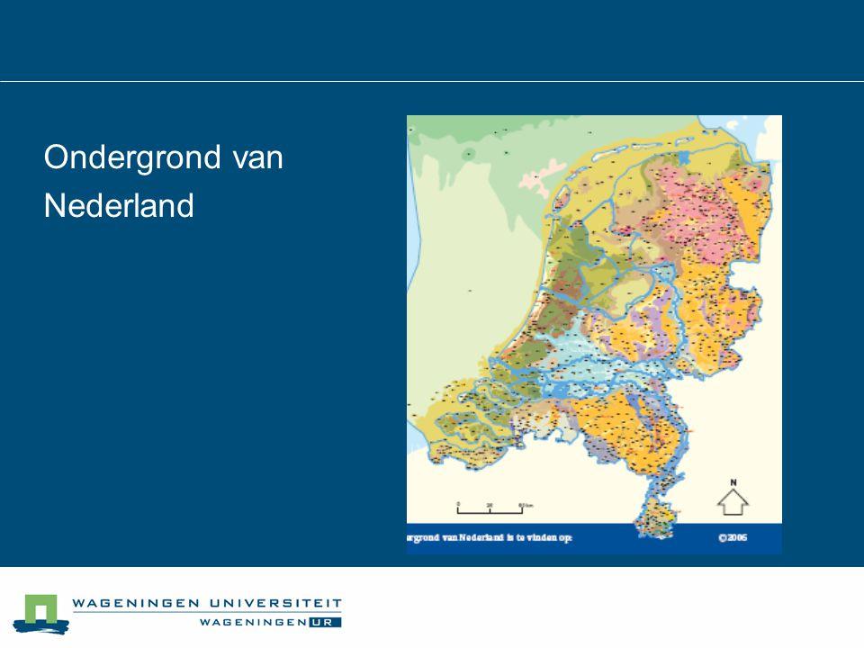 Ondergrond van Nederland