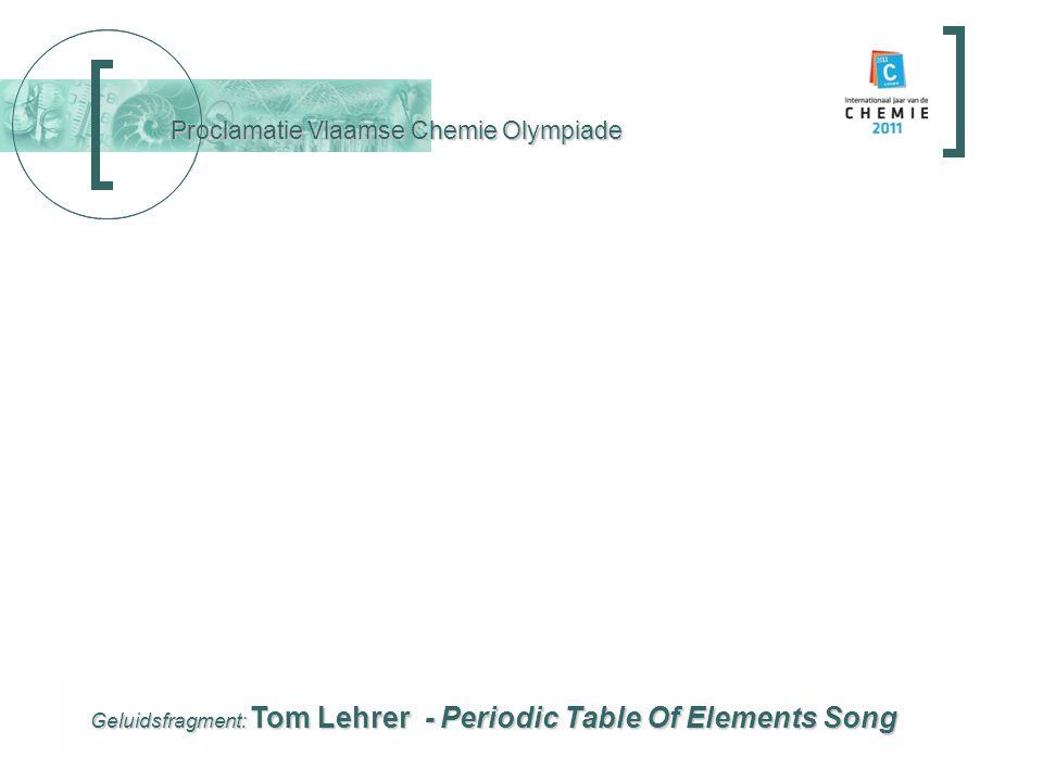 Proclamatie Vlaamse Chemie Olympiade Proclamatie en prijsuitreiking prijsuitreiking