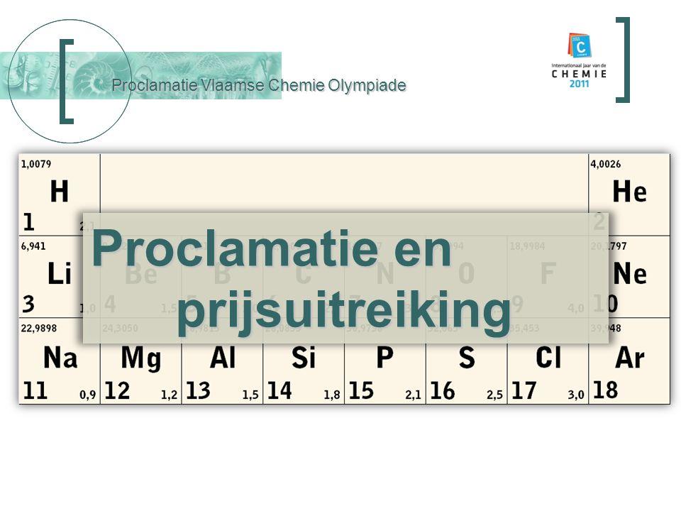 Proclamatie Vlaamse Chemie Olympiade Tom Eeckhout Alexis Schotte Zoë Hunin