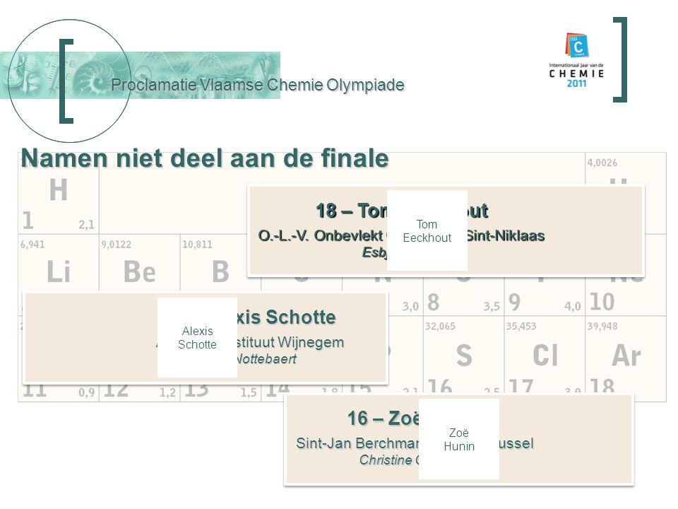 Proclamatie Vlaamse Chemie Olympiade 2 – Tim Seynnaeve K.A.