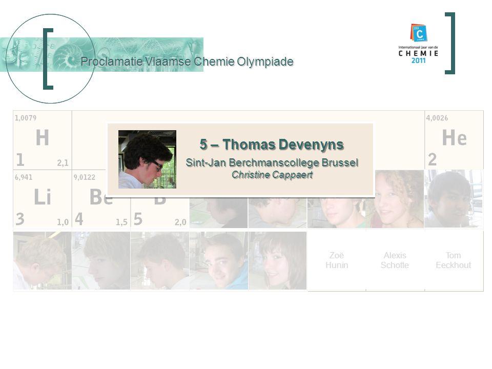 Overhandiging Tickets International Chemistry Olympiade International Chemistry Olympiad Robbert Struyven Tim Seynnaeve