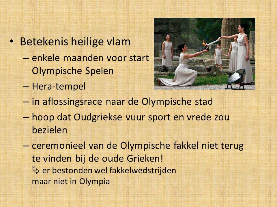 Betekenis heilige vlam – enkele maanden voor start Olympische Spelen – Hera-tempel – in aflossingsrace naar de Olympische stad – hoop dat Oudgriekse v