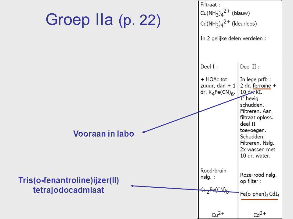 Vooraan in labo Tris(o-fenantroline)ijzer(II) tetrajodocadmiaat